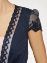 Жакет из легкой ткани с кружевной отделкой oodji #SECTION_NAME# (синий), 11200213-2/38096/7900N - вид 5