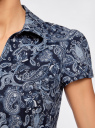 Блузка принтованная из легкой ткани oodji #SECTION_NAME# (синий), 21407022-9/12836/7974E - вид 5