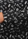 Блузка базовая из вискозы oodji для женщины (черный), 11411136B/26346/2912O
