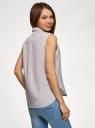 Рубашка прямая без рукавов oodji для женщины (бежевый), 14911017-1/49224/3530S
