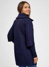 Пальто стеганое с воротником-стойкой oodji для женщины (синий), 28303004/47200/7901N - вид 3