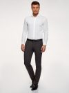Рубашка базовая приталенная oodji #SECTION_NAME# (белый), 3B140000M/34146N/1000N - вид 5