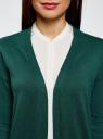Кардиган удлиненный без застежки oodji #SECTION_NAME# (зеленый), 63212505B/18239/6E00N - вид 4