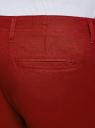 Брюки льняные на завязках oodji для мужчины (красный), 2B200018M/44233N/4C00N