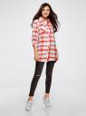 Платье-рубашка из хлопка oodji для женщины (красный), 59801008/43587/4523C