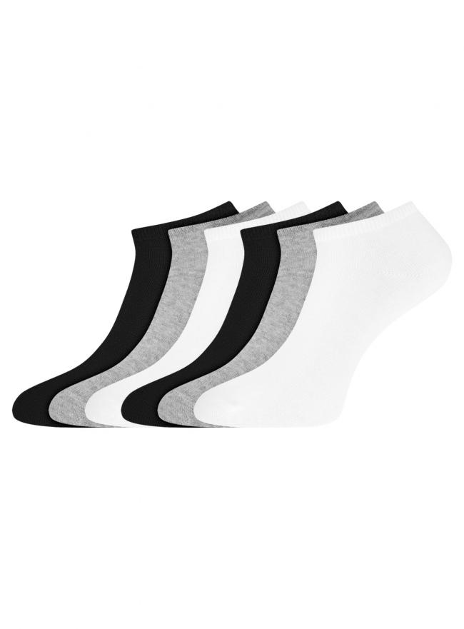 Комплект укороченных носков (6 пар) oodji для женщины (разноцветный), 57102433T6/47469/118
