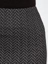 Юбка-карандаш из фактурной ткани oodji для женщины (серый), 14101096/47279/2910J