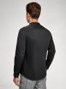 Рубашка приталенная с воротником-стойкой oodji для мужчины (черный), 3B140004M/34146N/2900N
