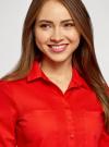 Рубашка базовая с нагрудными карманами oodji #SECTION_NAME# (красный), 11403222B/42468/4500N - вид 4