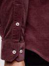 Рубашка slim из вельвета oodji #SECTION_NAME# (красный), 3L110218M/44424N/4900N - вид 5