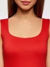 Топ из эластичной ткани на широких бретелях oodji #SECTION_NAME# (красный), 24315002-1B/45297/4500N - вид 4