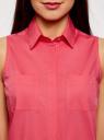 Платье хлопковое на кулиске oodji #SECTION_NAME# (розовый), 11901147-5B/42468/4D00N - вид 4