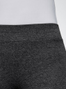 Легинсы базовые трикотажные oodji #SECTION_NAME# (серый), 18700046-2B/47618/2500M - вид 5