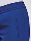 Брюки на эластичном поясе oodji для женщины (синий), 11709033/42720/7500N - вид 5