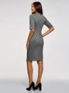 Платье жаккардовое с V-образным вырезом oodji #SECTION_NAME# (серый), 14017002/46979/1029O - вид 3