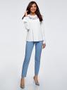 Блузка хлопковая с вышивкой oodji для женщины (белый), 13K11006/43609/104CP