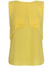 Топ из легкой струящейся ткани oodji #SECTION_NAME# (желтый), 11400425-3/45287/5200N