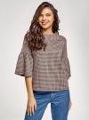 Блузка с воланами на рукавах oodji #SECTION_NAME# (розовый), 14201527-2/49746/5429C - вид 2