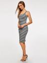 Платье-майка трикотажное oodji #SECTION_NAME# (серый), 14015007-3B/37809/2329S - вид 6
