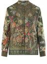 Блузка свободного силуэта с цветочным принтом oodji #SECTION_NAME# (зеленый), 21411109/46038/6819F