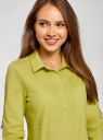 Рубашка базовая с нагрудными карманами oodji #SECTION_NAME# (зеленый), 11403222B/42468/6A01N - вид 4