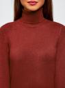 Свитер вязаный базовый oodji #SECTION_NAME# (красный), 74412005-8B/24514/4901M - вид 4