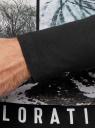 Футболка с длинным рукавом и принтом oodji #SECTION_NAME# (черный), 5L512003I-1/47885N/2919P - вид 5