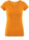 Футболка базовая из хлопка oodji для женщины (оранжевый), 14701008B/46154/5900N