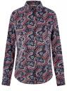 Рубашка хлопковая базовая oodji #SECTION_NAME# (разноцветный), 13K03001-1B/14885/7945E