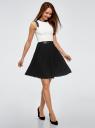 Платье oodji для женщины (черный), 11902154/42543/2930B