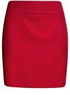 Юбка короткая базовая oodji #SECTION_NAME# (красный), 11600399-1B/14917/4500N