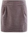 Юбка короткая с карманами oodji #SECTION_NAME# (фиолетовый), 11605056-2B/22124/2349C