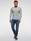 Пуловер базовый с V-образным вырезом oodji #SECTION_NAME# (серый), 4B212007M-1/34390N/2302M - вид 6