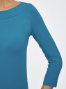 Футболка с рукавом 3/4 oodji для женщины (синий), 24201010B/46147/7501N