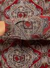 Блузка из вискозы принтованная с воротником-стойкой oodji #SECTION_NAME# (красный), 21411063-2/26346/4533E - вид 5