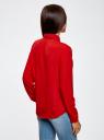 Блузка из струящейся ткани oodji #SECTION_NAME# (красный), 11400368-3/32823/4500N - вид 3