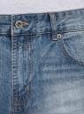 Шорты джинсовые с потертостями oodji #SECTION_NAME# (синий), 6B220013M/35771/7401W - вид 4