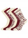 Комплект из шести пар хлопковых носков oodji #SECTION_NAME# (разноцветный), 57102902-5T6/49118/46 - вид 2