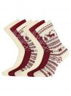 Комплект из шести пар хлопковых носков oodji для женщины (разноцветный), 57102902-5T6/49118/46 - вид 2