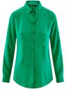 Блузка базовая из вискозы с карманами oodji #SECTION_NAME# (зеленый), 11400355-4/26346/6D00N