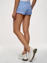 Шорты хлопковые на завязках oodji для женщины (синий), 17001029-4/46155/7012D