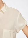 Блузка из вискозы с нагрудными карманами oodji #SECTION_NAME# (слоновая кость), 11400391-3B/24681/3000N - вид 5