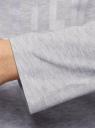Футболка хлопковая с длинным рукавом oodji для женщины (серый), 14208010-4/47885N/2019Z