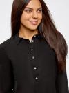 Рубашка хлопковая свободного силуэта oodji #SECTION_NAME# (черный), 11411101B/45561/2900N - вид 4
