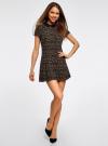 Платье мини с коротким рукавом oodji для женщины (бежевый), 11902153-1/45079/3329A - вид 2