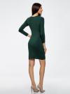 Платье базовое с рукавом 3/4 oodji #SECTION_NAME# (зеленый), 63912222B/46244/6900N - вид 3