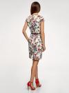 Платье-футляр с ремнем oodji #SECTION_NAME# (разноцветный), 22C02003/14522/3019F - вид 3