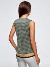 Топ принтованный с V-образным вырезом oodji для женщины (зеленый), 21400388-2/35542/6E37G - вид 3