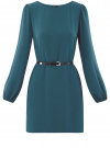 Платье из шифона с ремнем oodji #SECTION_NAME# (зеленый), 11900150-5B/32823/6C00N