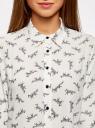 Блузка принтованная из шифона oodji для женщины (белый), 11400394-3/36215/1229Q
